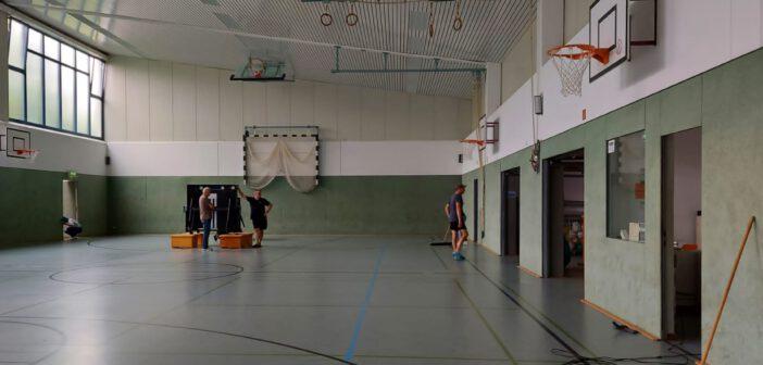 Die Sporthalle ist wieder blitzblank geputzt – Erster AndroCup fand am Vortag statt